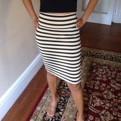 bebe high waist stretch skirt Used two times, great condition. Very comfortable and shows off your figure! bebe Skirts