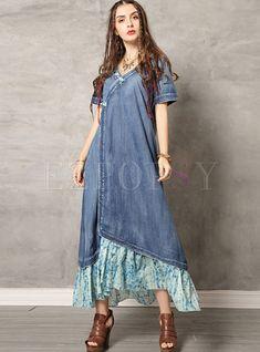 #dressforwomen #vintagedresses #denimdress #dressforwomen