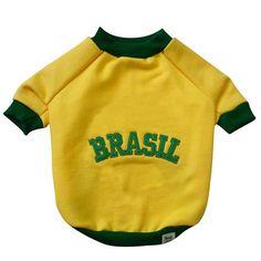 Blusa de Moletom Amarelo Br.Cão - MeuAmigoPet.com.br #petshop #cachorro #cão #meuamigopet