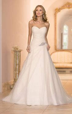 Stella York wedding dresses are handcrafted with stunning detail. This Tulle A-Line bridal gown features show stopping details such as its c...