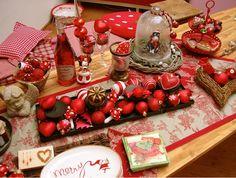 , Tags Kreatives, Pink, Rot, Tischdeko, Tischdekoration Weihnachten, Weihnachtsdeko, Weihnachtsdeko, Dekoideen