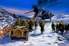 Frozen Chosin, Korea, December 1950, Korean War- by David Pentland