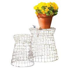 Wire+Garden+Stool | Piece Millie Garden Stool Set