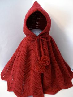 Little Red Riding Hood Crocheted Bright Red by HeartfeltHandicraft, $35.00