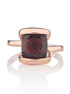 Infinity Smoky Quartz Gemtone Ring