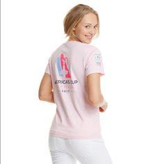"""Vineyard Vines Americas Cup Tee Vineyard Vines America's Cup flamingo pink short sleeve pocket tee. Size M. 100% cotton.  Bust 19"""" length 25"""" Vineyard Vines Tops Tees - Short Sleeve"""
