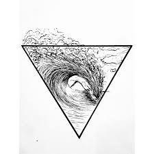 Картинки по запросу surfing tattoo sketch