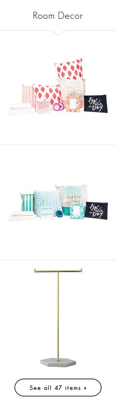"""""""Room Decor"""" by daniela-infante-urbina ❤ liked on Polyvore featuring home, furniture, coral pink, children's room, children's decor, turquoise blue, home decor, jewelry storage, grey and bloomingville"""