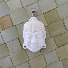 Buddha Face Style 2 Pendant - Bone Carving handmade in Bali on Etsy, $12.00