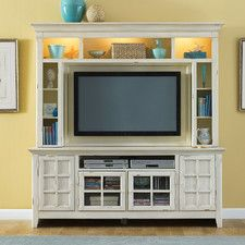 ITEM your entertainment room with a entertainment center. The entertainment center is made from selected hardwood and birch veneers, so it is durable. Painted Entertainment Centers, Entertainment Room, Entertainment Centres, Diy Game, Liberty Furniture, Flat Panel Tv, Flat Tv, Living Room Furniture, Furniture Decor