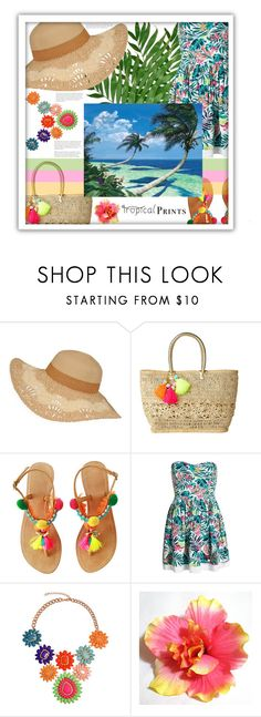 """""""HOT TROPICS CONTEST #tropicalprints  #hottropics"""" by maria-notte ❤ liked on Polyvore featuring Lilly Pulitzer, Superdry, WALL, tropicalprints and hottropics"""