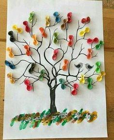 macaroni tree craft | funnycrafts