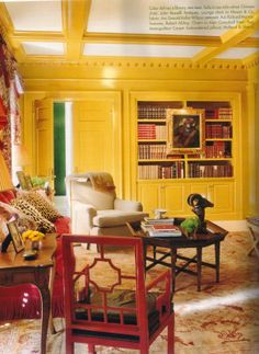 Who said you can't paint your woodwork yellow....or whatever color you choose?