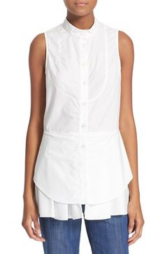 Derek Lam 10 Crosby Sleeveless Cotton Shirt