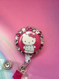 Hello Kitty Dr Nurse Hot Pink Badge Reel by ForTheLovetlc, $12.00