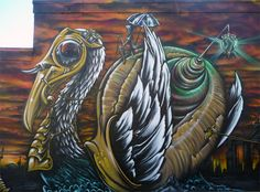 San Francisco Mural Arts | Ernest Doty, Griffin One, Max Ehrman | The Last Caravan of Eve