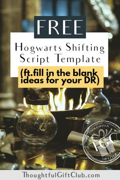 FREE Reality Shifting to Harry Potter Script Template [Fill in the Blank]
