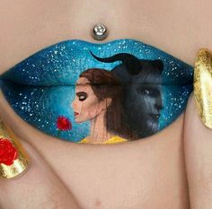 My all time favourite Disney movie has finally come alive! 😍 Beauty and the Beast inspired Lip Art 🌹 release… Lipstick Designs, Lip Designs, Makeup Designs, Creative Eye Makeup, Eye Makeup Art, Lip Makeup, Lipstick Art, Lip Art, Lipsticks