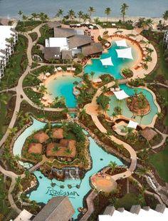 Aerial - Radisson Blu Resort Fiji - Denarau Island where we are staying Vacation Places, Dream Vacations, Places To Travel, Italy Vacation, Travel Destinations, Beach Resorts, Hotels And Resorts, Fiji Holiday, Holiday Travel