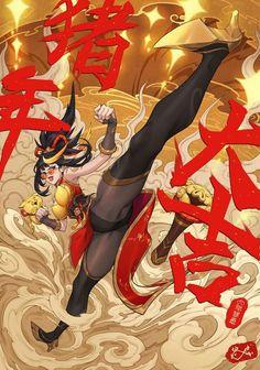 ArtStation - Happy Chinese new year! Lol League Of Legends, League Of Legends Characters, Character Inspiration, Character Art, Fantasy Girl, Kawaii Anime, Art Reference, Anime Characters, Anime Art