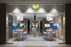 Thomas Cook store at Lakeside Shopping Centre by Wanda Creative, UK travel agency