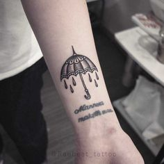 Umbrella tattoo on the left wrist by Rae Beat – foot tattoos for women quotes Umbrella Tattoo, Rain Tattoo, Storm Tattoo, Foot Tattoos Girls, Foot Tattoos For Women, Tattoos For Guys, Grace Vanderwaal, Bad Boys, Lightning Tattoo