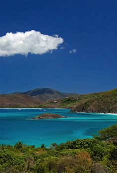 Take a ferry from St. Thomas to St. John. Cinnamon Bay is just one of the beautiful beaches you'll see along the way.