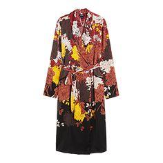 Det här är ett plagg med många möjligheter! Bär den som en kimono över dina byxor eller använd knapparna och ha den som klänning. Du bestämmer stilen! Det tunga satintyget har en lyxig känsla oavsett.