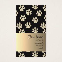 classy pet paw prints pattern