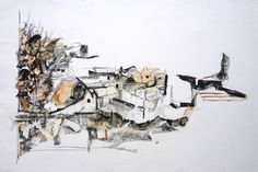 Untitled (2016) Maarten van der Linde. mixed media on cardboard