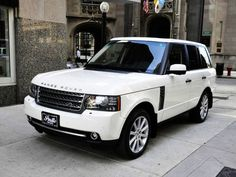 Range Rover; white milk, tinted windows, factory tires #classic