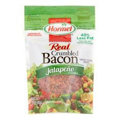 Hormel Crumbled Bacon, Jalapeno, 3 Oz Stuffed Jalapenos With Bacon, Jalapeno Bacon, Stuffed Peppers, Hormel Bacon, Yeast Extract, Acetic Acid, Natural Flavors, Turmeric