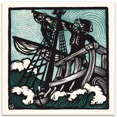 Sir Patrick Spens - Block Print for Anaïs Mitchell
