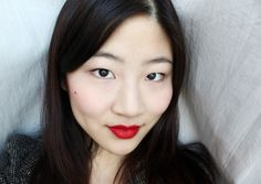 Classic red Asian lip