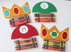 Super Mario party favors - from Cherished Blessings on etsy