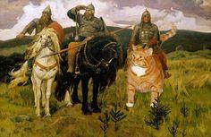 Heroes . Victor Vasnetsov 1898