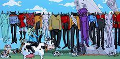 Space Cowboy Star Trek Clothesline with Spock Riding by DurdenArt