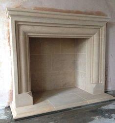 Sandstone Fireplace, Stone Fireplace Surround, Natural Stone Fireplaces, Simple Fireplace, Brick Fireplace Makeover, Fireplace Cover, Concrete Fireplace, Farmhouse Fireplace, Fireplace Hearth