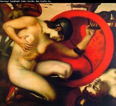 Wounded amazone. Franz von Stuck