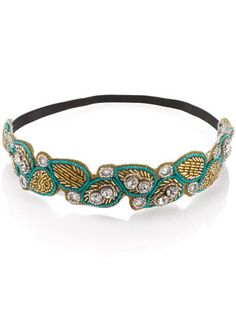 Turquoise Beaded Headband - more jewelry for my hair.