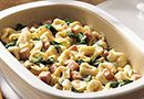 Pampered Chef Easy Tortellini Toss. Microwaved and delicious! And the website has so many other great recipes!
