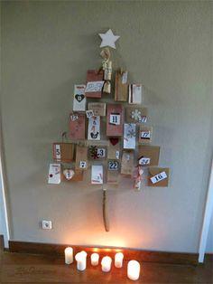 Calendario dell'avvento a forma di albero - Calendario de adviento en forma de árbol de #Navidad