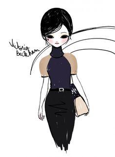 Victoria Beckham A/W 2013 illustration by Candybird