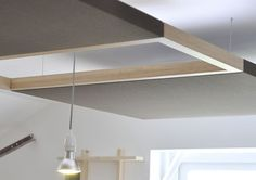 Wood sound absorption with space for light panel ALTITUDE piknik