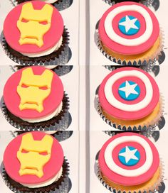 Captain America: Civil War Iron Man Captain America cupcake topper how to