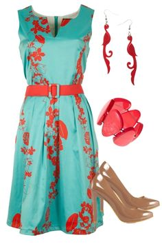 coral on turquoise