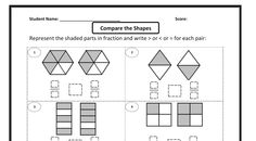Comparing Fractions Worksheets: Find out which fraction is