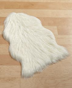 Home Design Studio Faux Fur Accent Rug, Only at Macy's