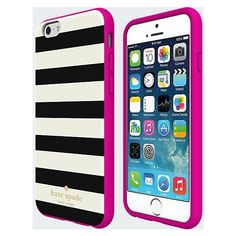 kate spade new york Flexible Hardshell Case for iPhone 6 Candy Stripe... ($50) ❤ liked on Polyvore