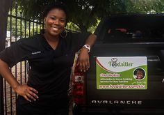Looking good, Chef Malkia! And what's that 'pretty young thing' stuck on the back of your car?  It's one of our cool new magnets - whohoo! What do you think? :)